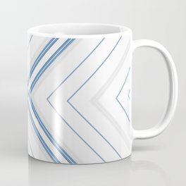 Decorative Multi Pattern Soft Blue Design Coffee Mug