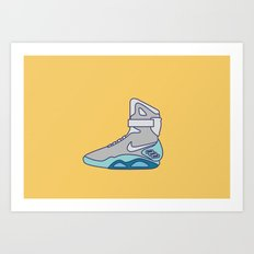 Power laces Sneakers - Back to the future series Art Print