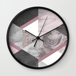 Geometric textured graphic Wall Clock