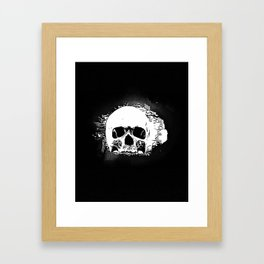 Skull Face Framed Art Print