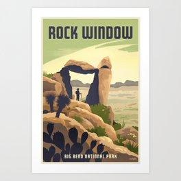 Rock Window Big Bend National Park Art Print