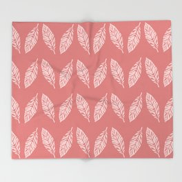 Tropical foliage Flamingo Pink #tropical #leaves #homedecor Throw Blanket
