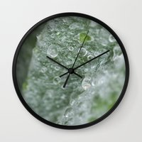 ukraine Wall Clocks featuring Ukraine dew drops by Stef and Stuff...