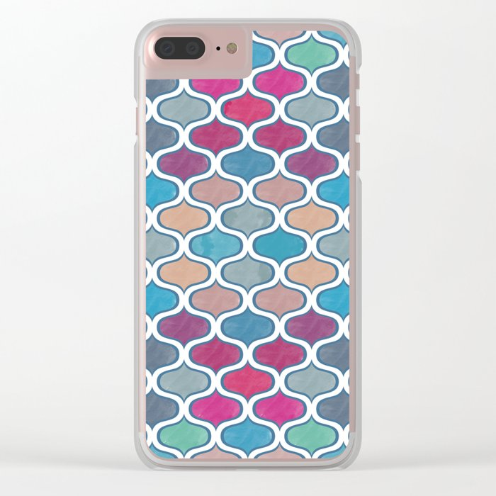 Watercolor Lovely Pattern VVX Clear iPhone Case