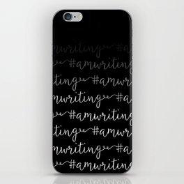 #amwriting in black iPhone Skin