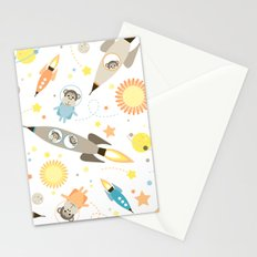 Apes in space Stationery Cards