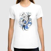 koi fish T-shirts featuring Koi Fish  by JonathanStephenHarris