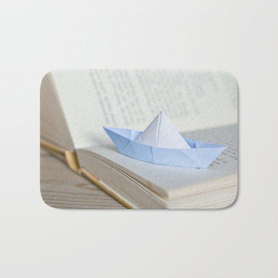 Little paper boat Bath Mat