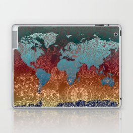 world map mandala vintage Laptop & iPad Skin