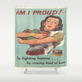Vintage poster - Am I Proud? Shower Curtain
