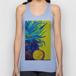 Blue Pineapple Abstract Unisex Tank Top