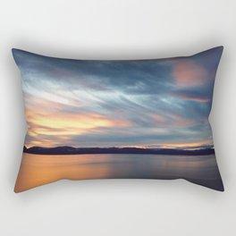 Cave Rock Sunset Rectangular Pillow