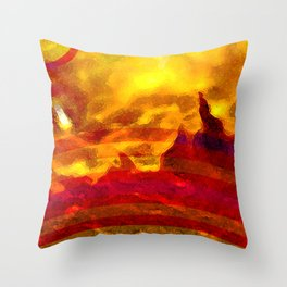 The Red Planet. Throw Pillow