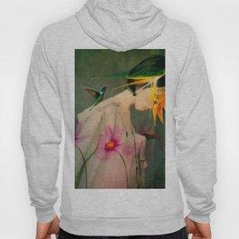 Woman between flowers / La mujer entre las flores Hoody