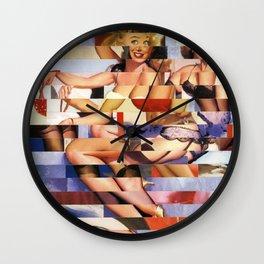 Glitch Pin-Up Redux: Taylor & Tiffany Wall Clock