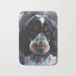 Cocker Spaniel dog #dog #spaniel Bath Mat