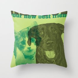 Rescue your new best friend Throw Pillow