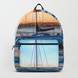 Sailboat at Sunset Backpack