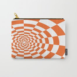 ORANGE CHECKERED Abstract Art Carry-All Pouch
