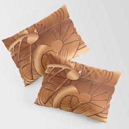 Magical Kokopelli in Burnt Orange Pillow Sham