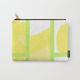 Expressive Windows of Yellow and Green Carry-All Pouch