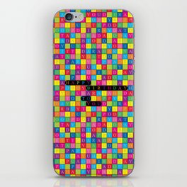 Wordsearch Love: Happy Birthday To You iPhone Skin