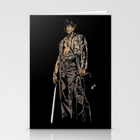 indiana jones Stationery Cards featuring Indiana Jones: And the Temple of Doom by Jamesy