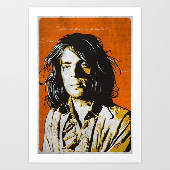Shine on you Crazy Diamond Art Print