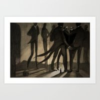 kafka Art Prints featuring Kafka by Cory Michael Ecker