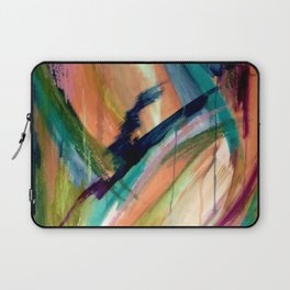 Brave: A colorful and energetic mixed media piece Laptop Sleeve