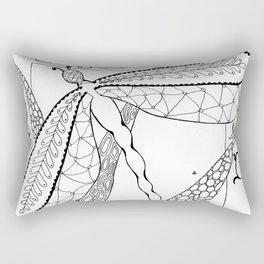 Dragonfly on Reeds Rectangular Pillow