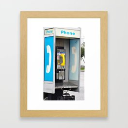 Where have all the pay phones gone? #3 Framed Art Print