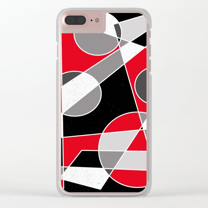 Abstract #101 Clear iPhone Case