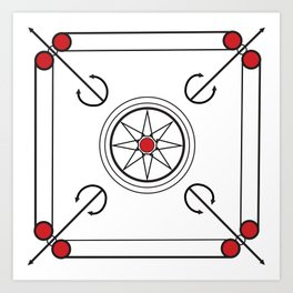 Carrom Board Art Print