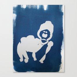 Cyano-gorilla Canvas Print