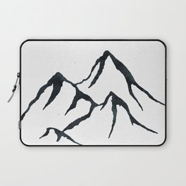 MOUNTAINS Black and White Laptop Sleeve