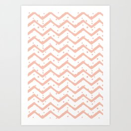Chevron | by Kukka Art Print