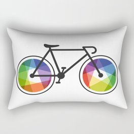 Geometric Bicycle Rectangular Pillow