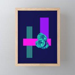 Neon Roses #society6 #roses Framed Mini Art Print