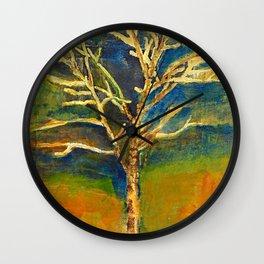 Golden Birch Wall Clock