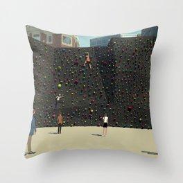 Wall Climbing Throw Pillow
