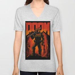 Doomguy Unisex V-Neck