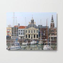 View of the Quaint Vissershaven, Vlissingen, Netherlands Metal Print