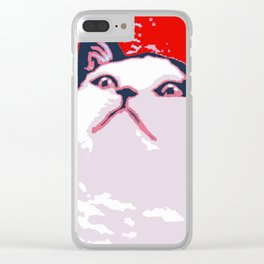Obey the Cat Clear iPhone Case