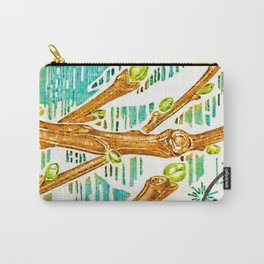 Branch of a chestnut tree in Winter Carry-All Pouch