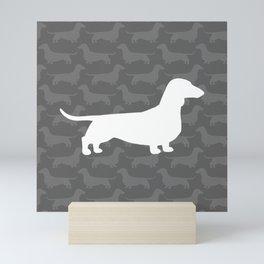 Dachshund Silhouette(s) Wiener Dog Mini Art Print