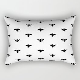BUMBLEBEE ((black on white)) Rectangular Pillow