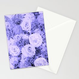 bouquet ver.blue-b Stationery Cards