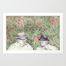 Old Men Art Print