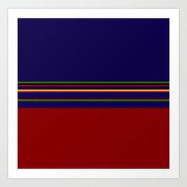 Bold Rainbow Stripe Design Art Print